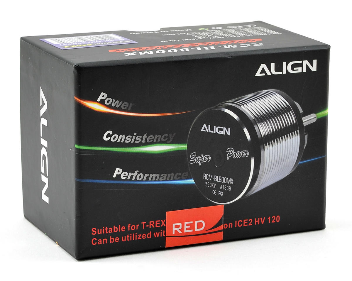 Align 800MX 800 Class Brushless Motor (440kV) (Red)