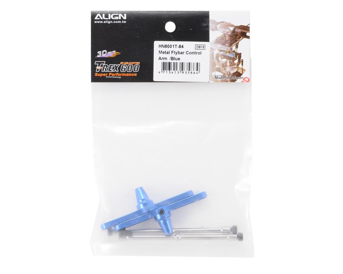 Align 600/600N Metal Flybar Control Arm Set (Blue)