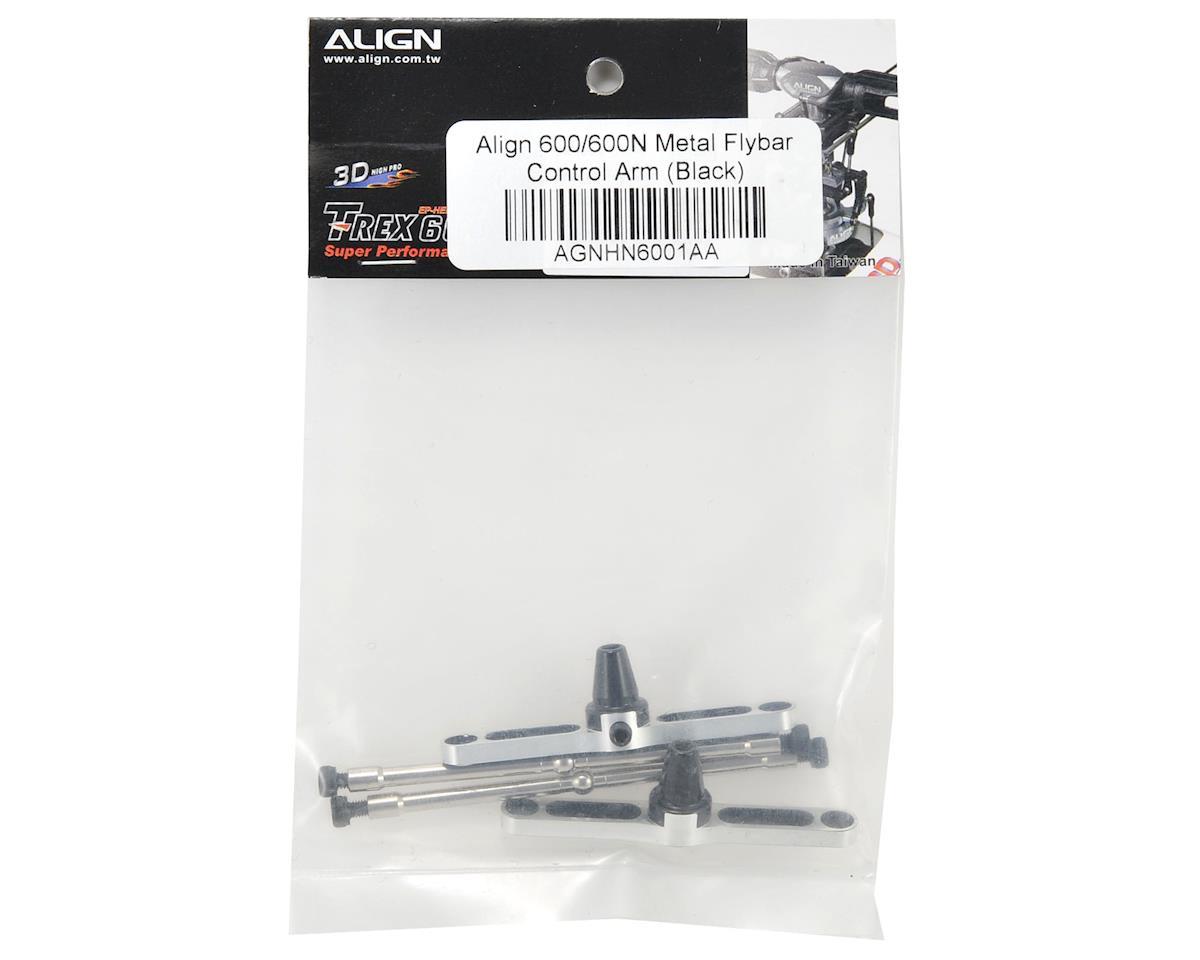 Align 600/600N Metal Flybar Control Arm Set (Black)
