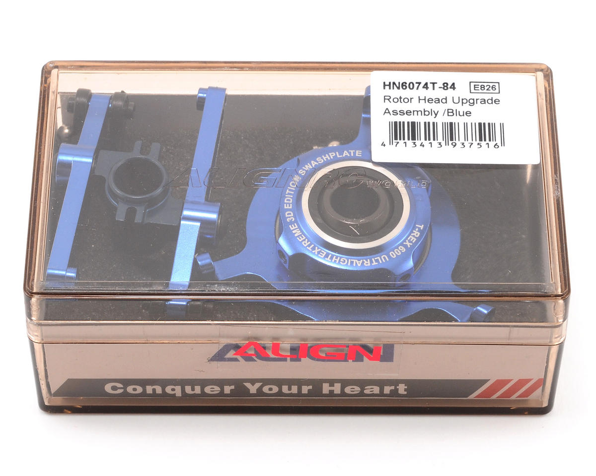 Align 600/600N Rotor Head Upgrade Assembly (Blue)