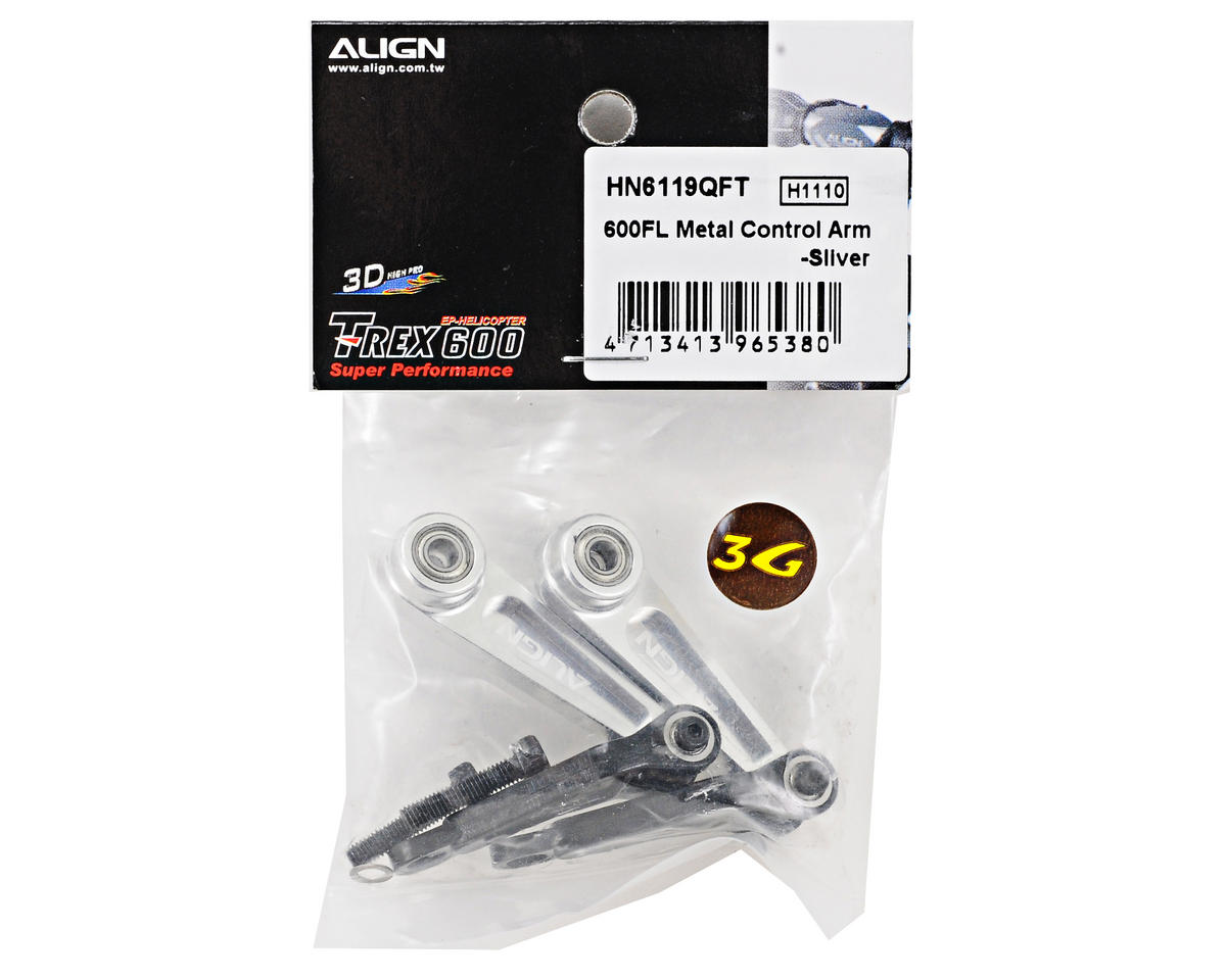 Align 600FL Metal Control Arm Set (Silver)