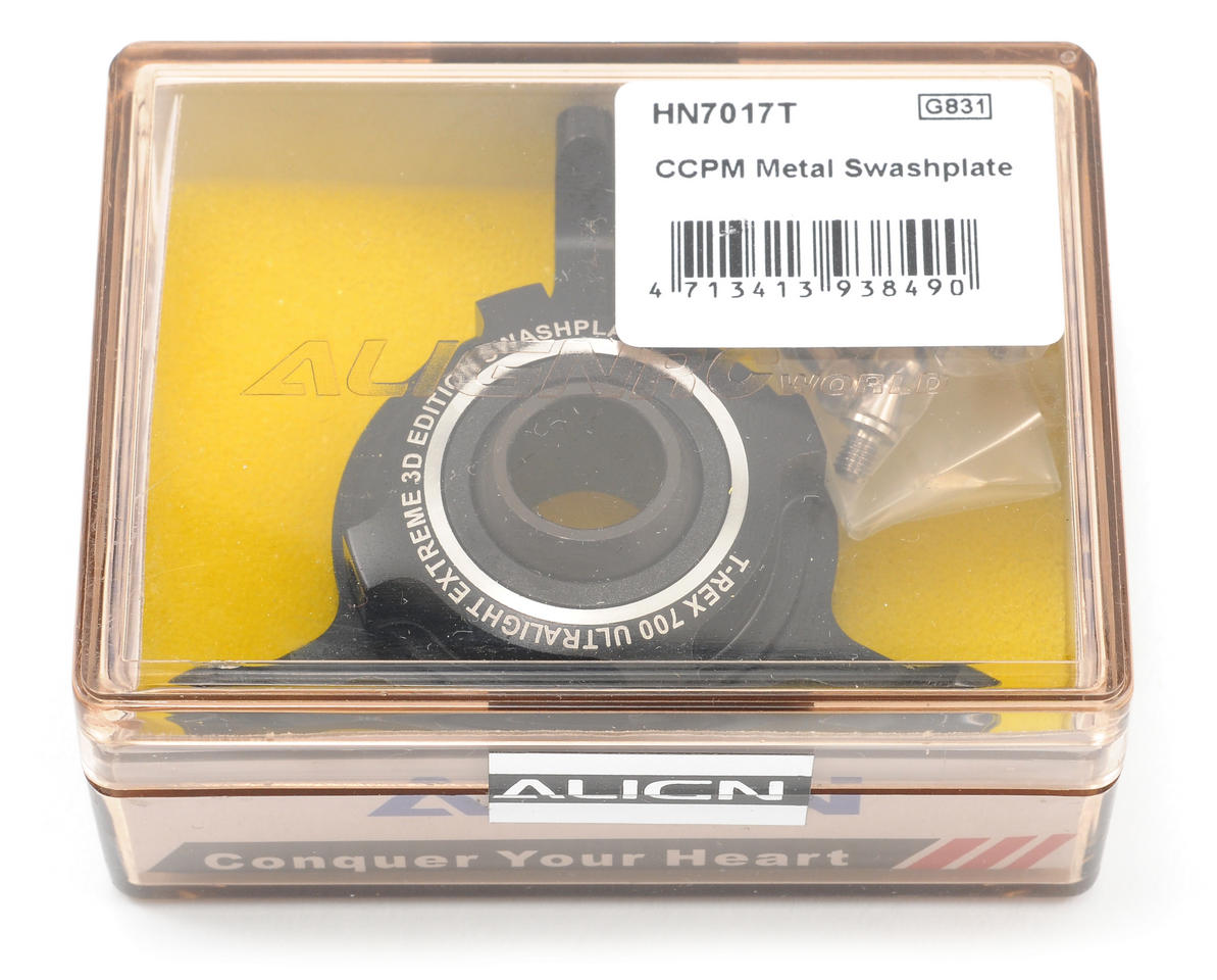 Align 700 CCPM Metal Swashplate (Black)
