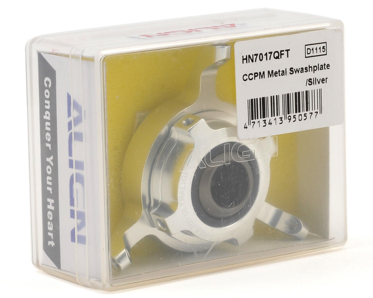 Align 700 CCPM Metal Swashplate (Silver)