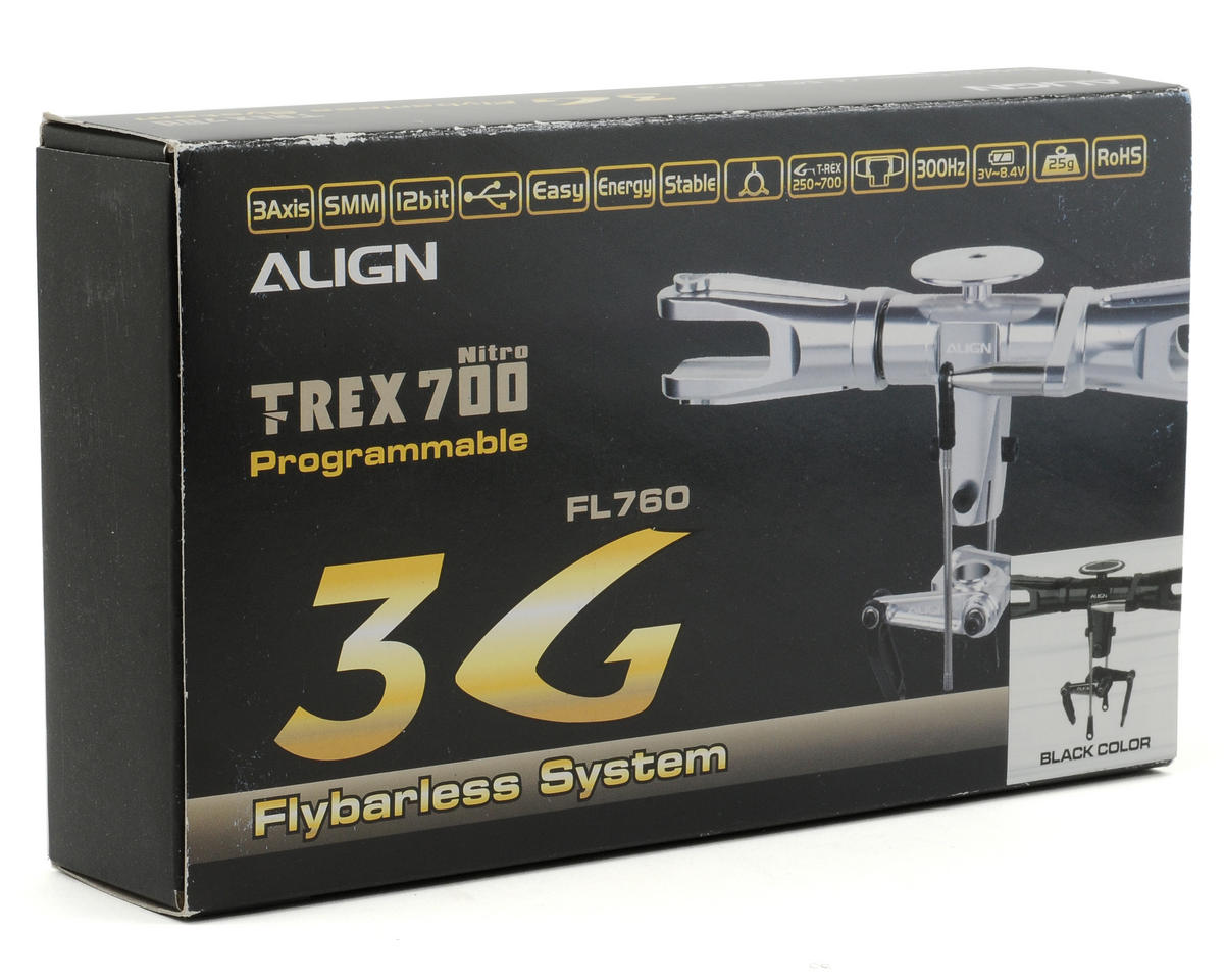 Align T-Rex 700 Flybarless Head Assembly (No Electronics) (Black)