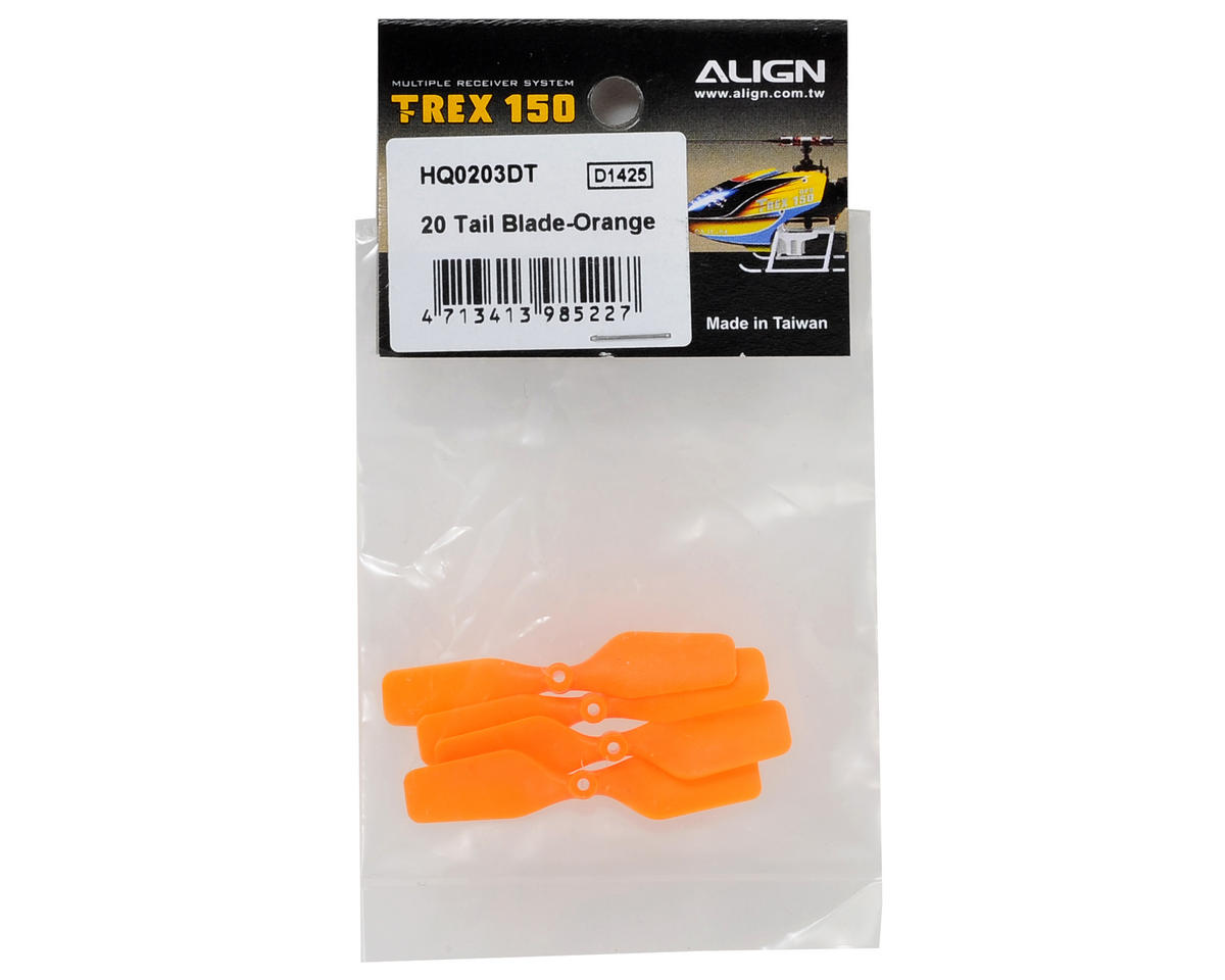 Align 150 20 Tail Blade (Orange)