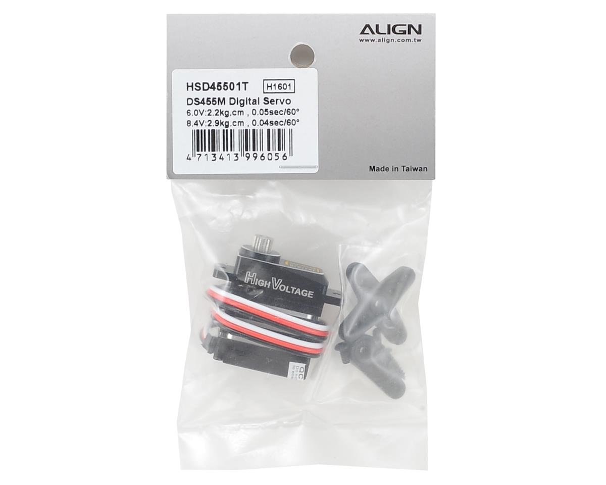 DS455M Digital Metal Gear Micro Tail Servo (High Voltage) by Align