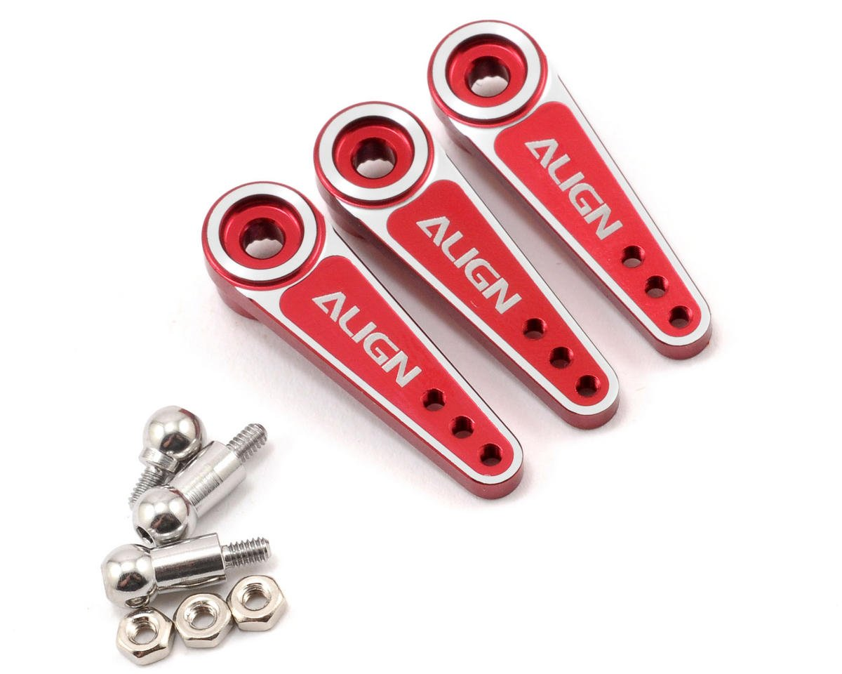 Align D6EJ Metal Servo Horn Set (Red) (3) (23T) | relatedproducts