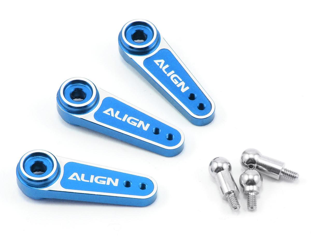 D6FF Metal Servo Horn Set (Blue) (3) (25T) by Align