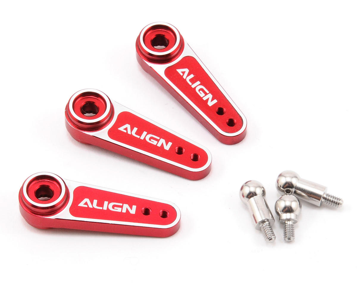 D6FJ Metal Servo Horn Set (Red) (3) (23T-KO/Sanwa/JR) by Align