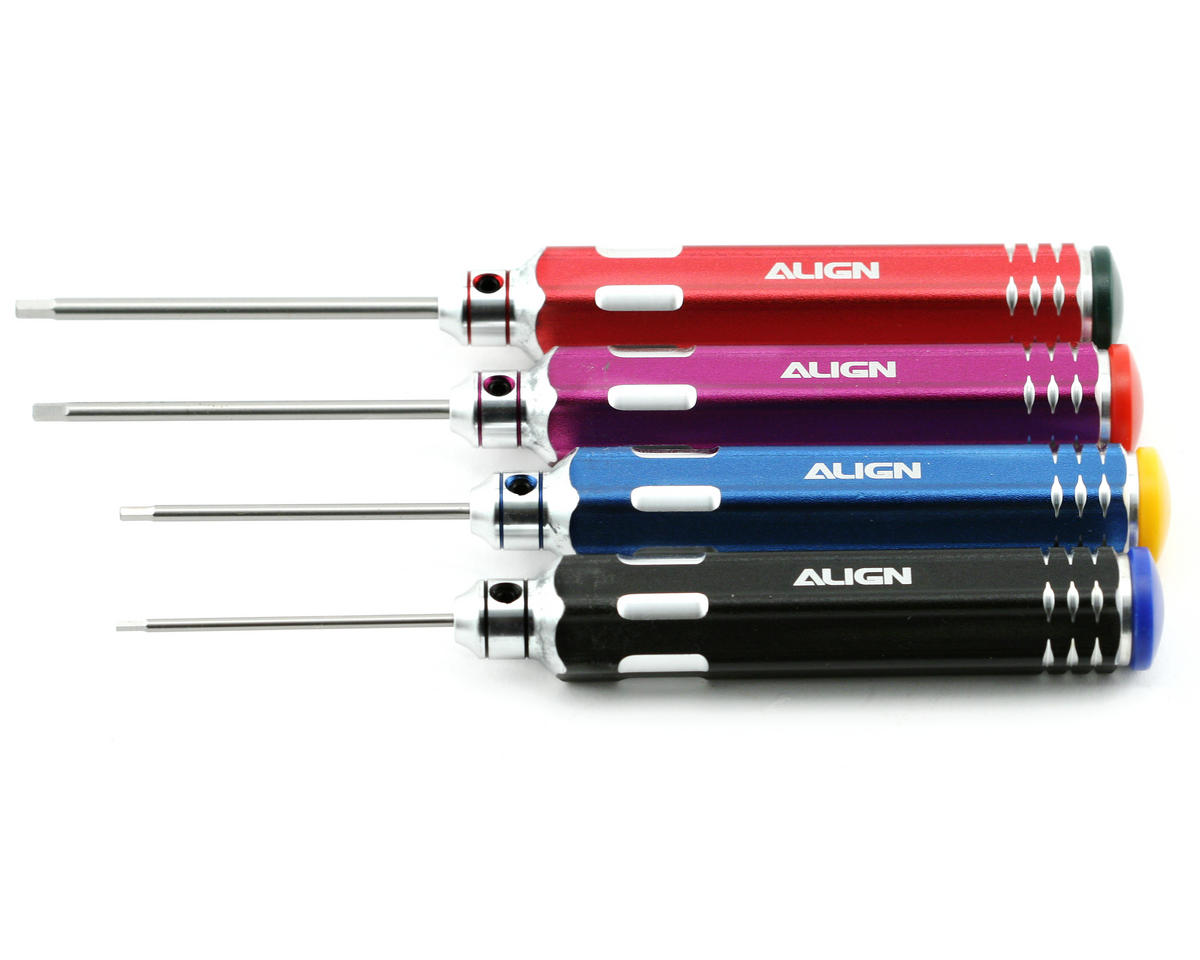 Hexagon Screw Driver Set (1.5, 2.0, 2.5, 3.0mm) by Align