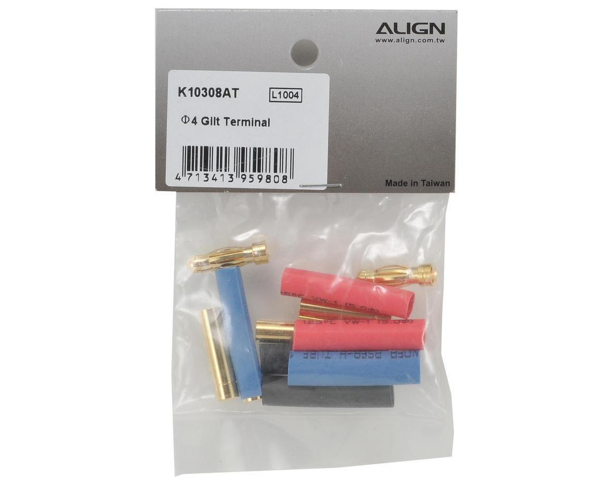 Align 4mm Gilt Terminal Set