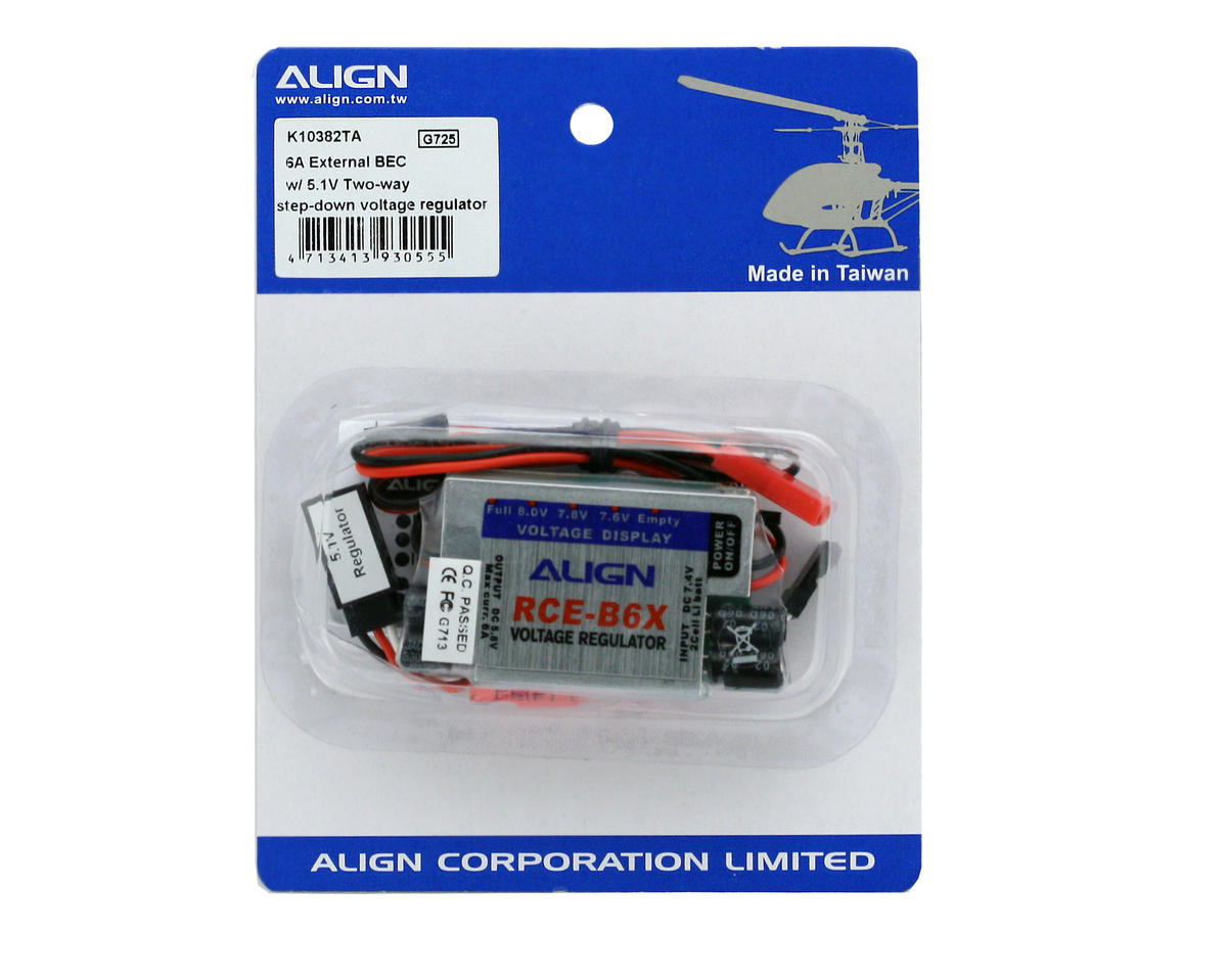 Align 6A External BEC w/ 5.1V 2-Way Step-Down Voltage Regulator