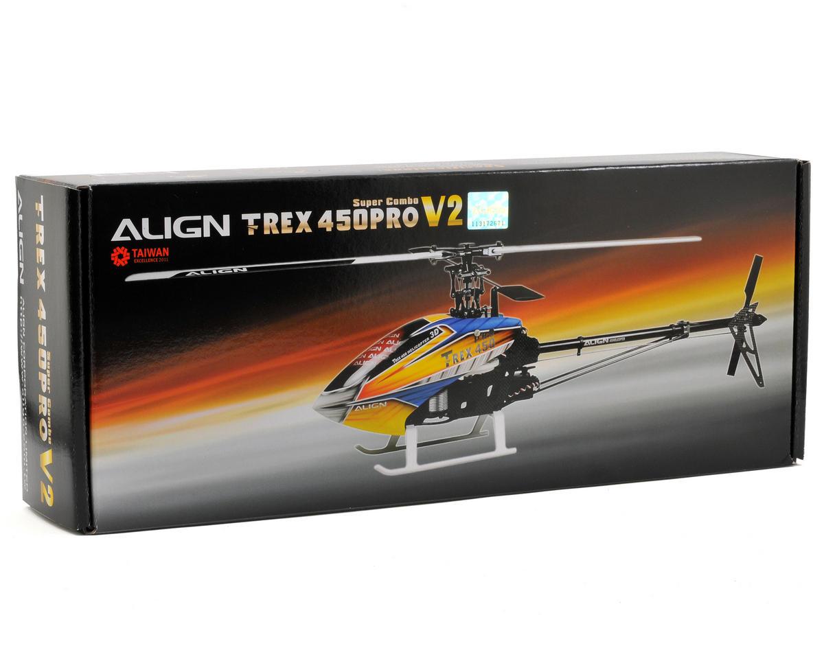 Align T-Rex 450 Pro V2 Super Combo w/Motor/ESC/Gyro/Servos (Carbon Blades)