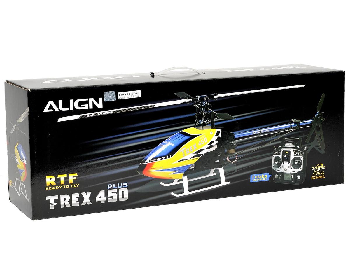 Align T-Rex 450 Sport Plus Super Combo RTF w/2.4GHz Radio, Motor, ESC, Gyro, Servos & CF Blades