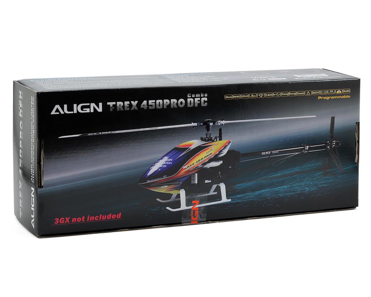 Align T-Rex 450PRO DFC Combo Helicopter Kit w/Motor/ESC/Servos & Carbon Blades