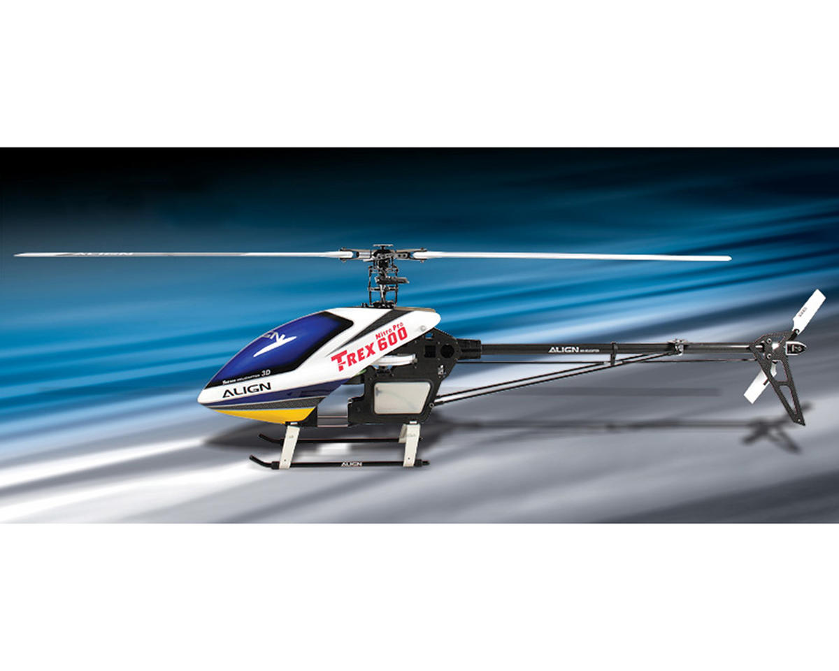 "Align T-Rex 600 Nitro V2 ""Limited Edition"" Helicopter Combo Kit w/Gyro, Servos & CF Blades"