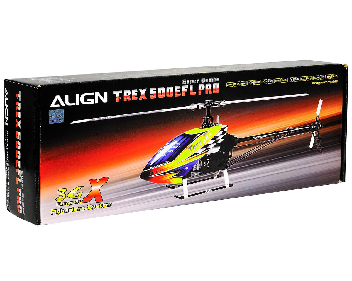 Align T-Rex 500EFL Pro Flybarless Super Combo Kit w/Motor, ESC, 4 Servos, Gyro & CF Blades