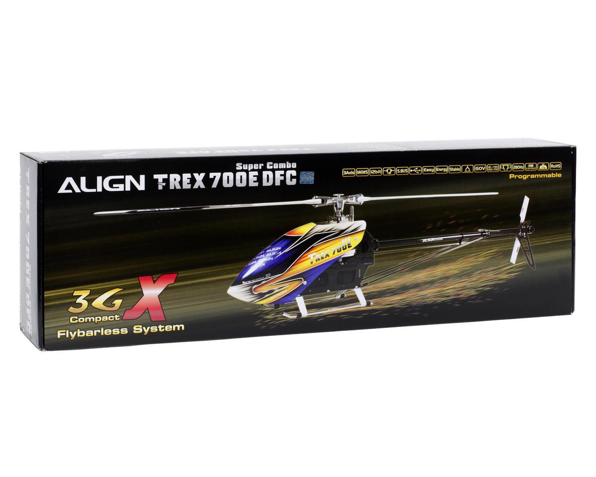Align T-REX 700E DFC Flybarless Super Combo Kit w/Motor, ESC, Gyro, 4 Servos & CF Blades