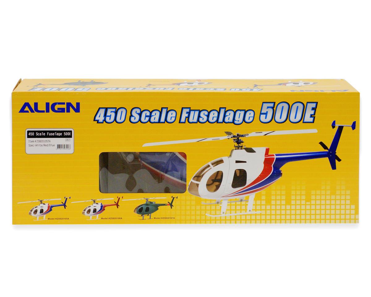 Align 450 Scale Fuselage 500E (White/Blue)