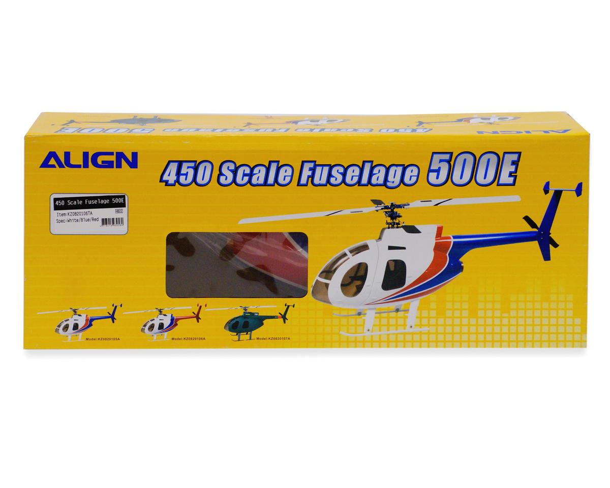 Align 450 Scale Fuselage 500E (White/Red)