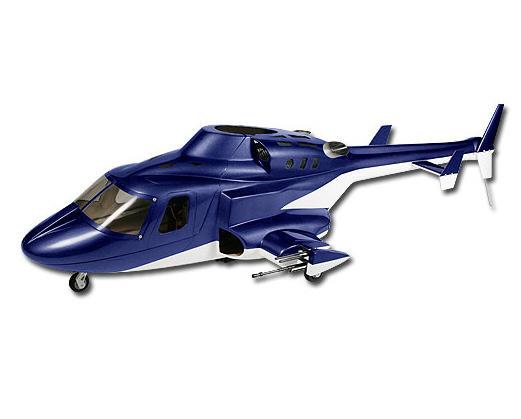Align T-Rex 500 Airwolf Scale Fuselage (Blue)