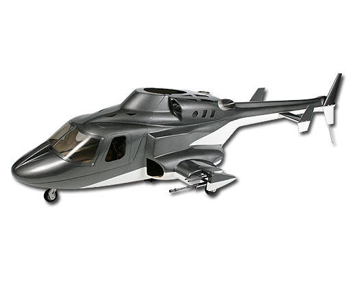 Align T-Rex 500 Airwolf Scale Fuselage (Grey)