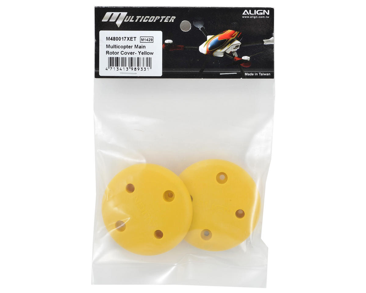 Align Multicopter Main Rotor Cover (2) (Yellow)