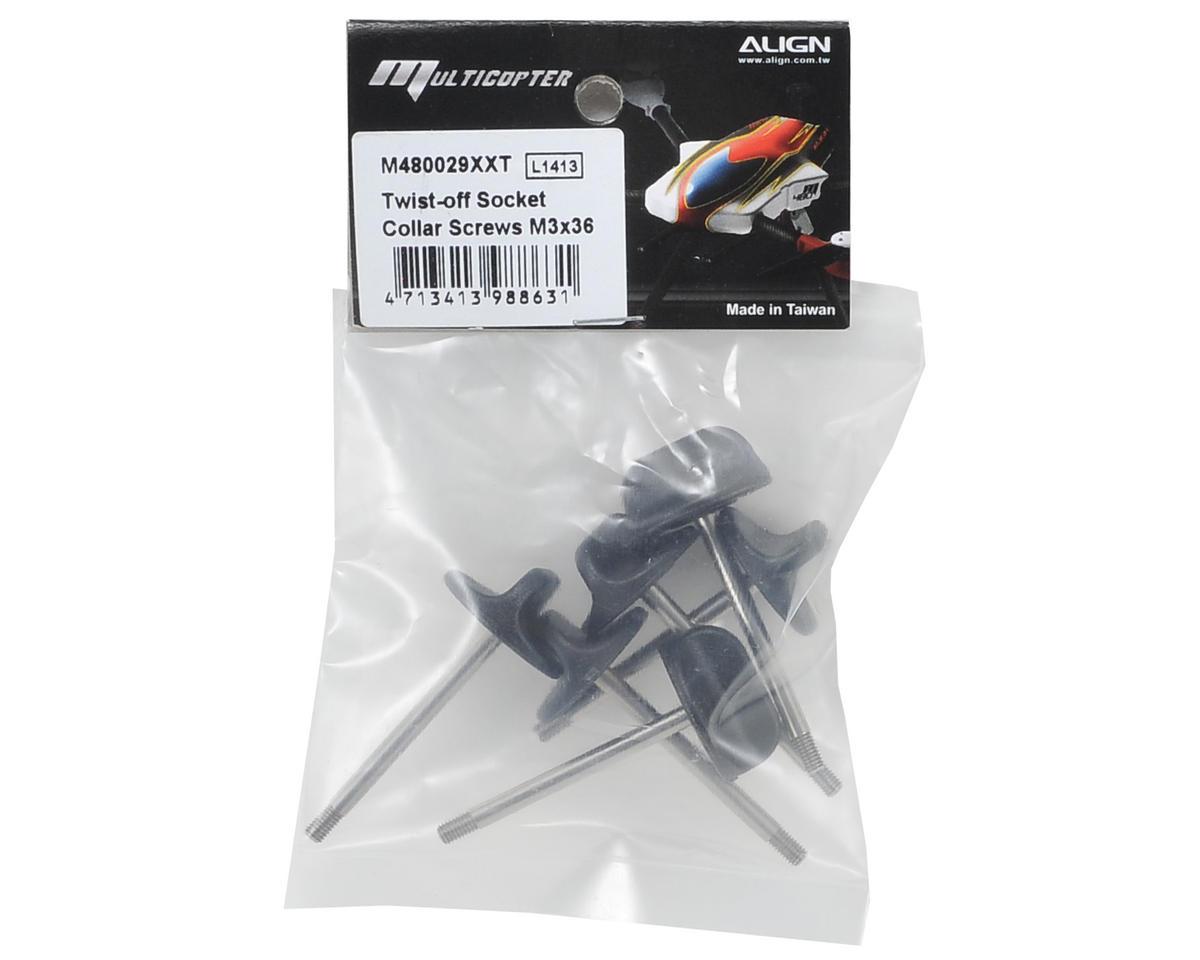 Align 3x36mm Twist-Off Socket Collar Screw (6)