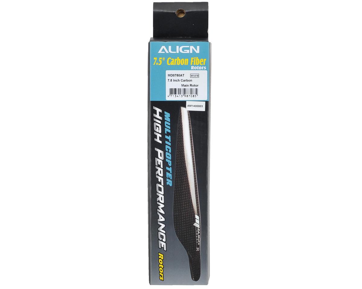 "Align 7.5"" Carbon Main Rotor Blade Set (2)"