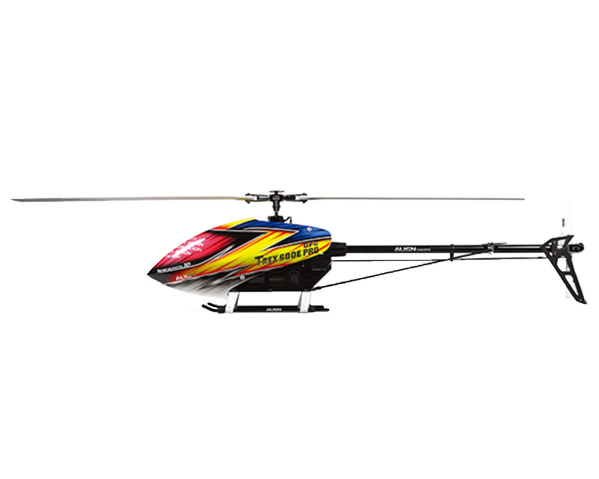 Align T-REX 600E PRO DFC Combo Helicopter Kit w/750MX, ICE2 HV, 4 Servos & Carbon Blades