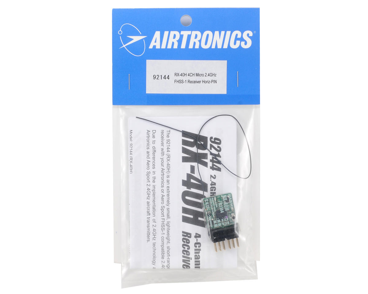 Airtronics RX40V 2.4GHz FHSS-1 4-Channel Micro Indoor Flyer Receiver (H Pin)