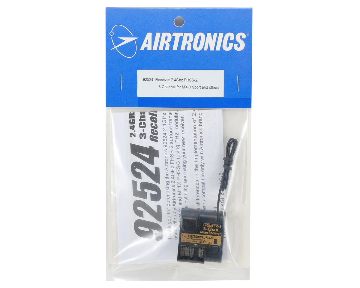 Airtronics RX-371 2.4GHz FHSS-2 3 Channel Receiver