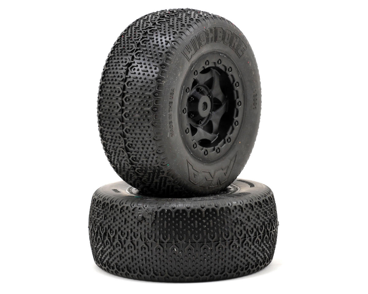 AKA Wishbone Short Course Pre-Mounted Tires (TEN-SCTE) (2) (Black)