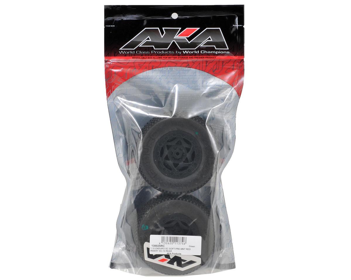 AKA Enduro Short Course Pre-Mounted Tires (SC10 Rear) (2)