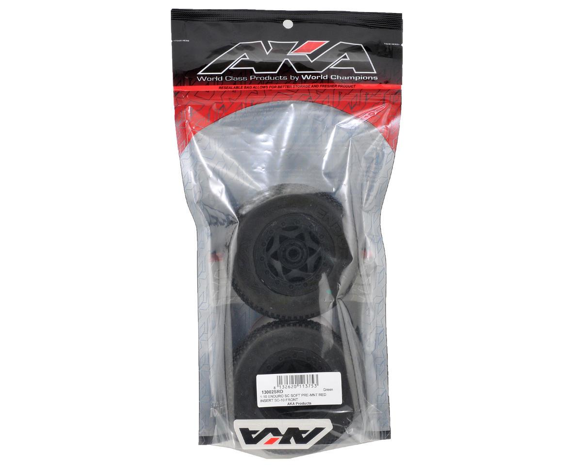 AKA Enduro SC Pre-Mounted Tires (SC10 Front) (2) (Black)