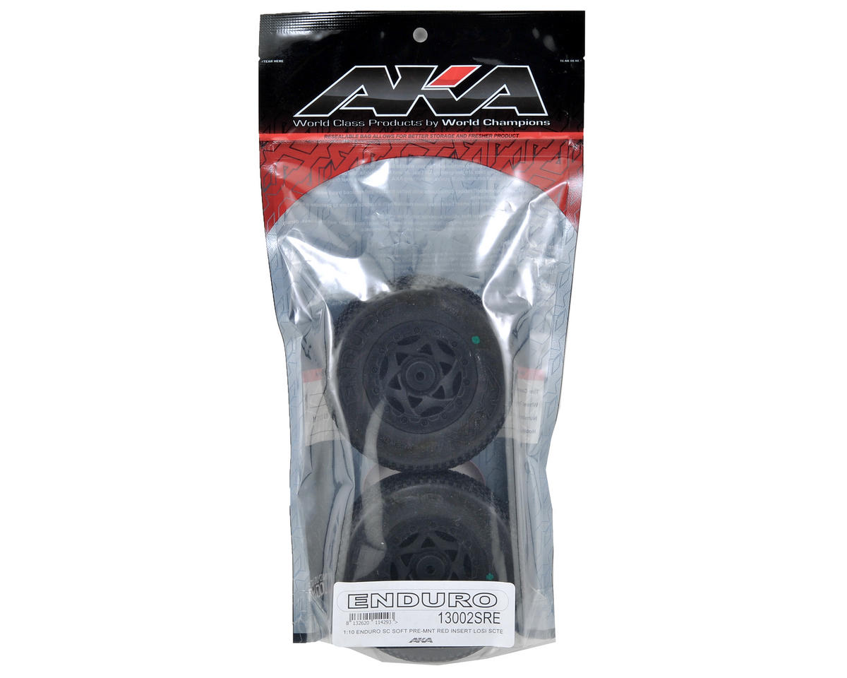 AKA Enduro SC Pre-Mounted Tires (TEN-SCTE) (2) (Black)
