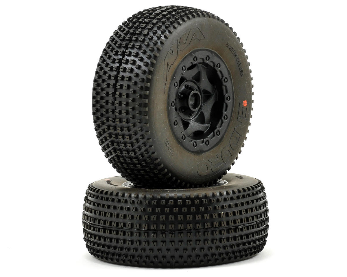AKA Enduro SC Pre-Mounted Tires (SC10 Front) (2) (Black) (Super Soft)