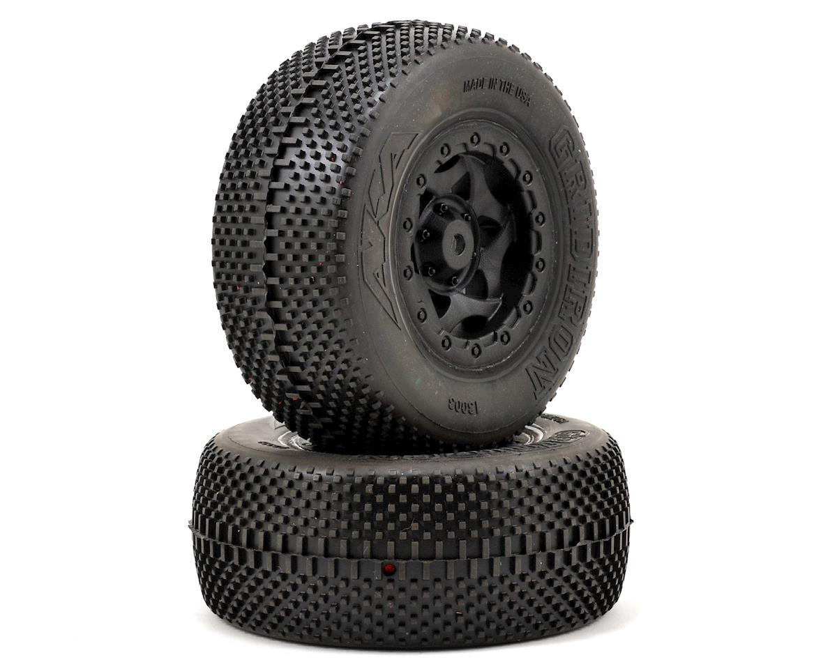 AKA Gridiron SC Pre-Mounted Tires (SC5M) (2) (Black)