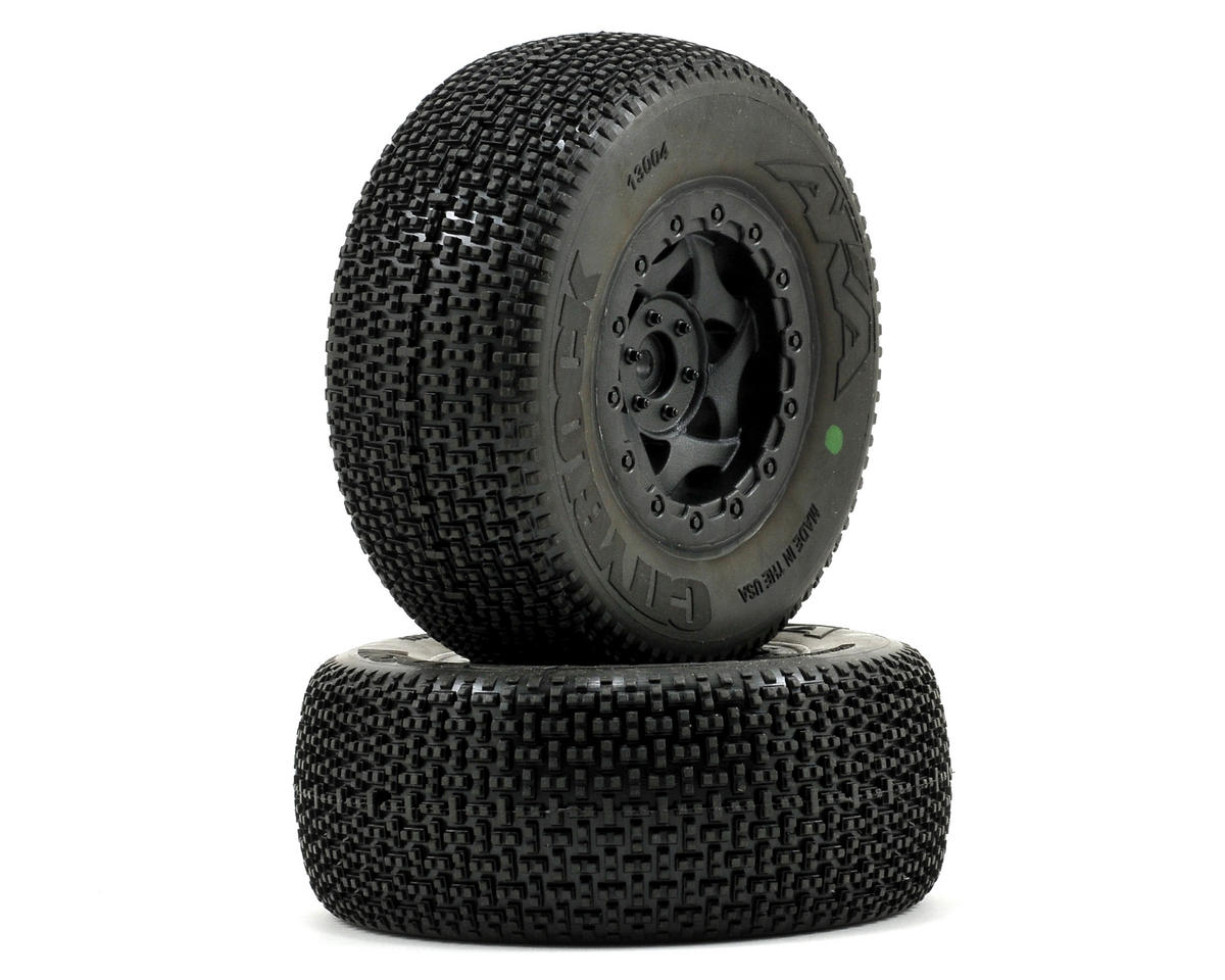 AKA Cityblock SC Pre-Mounted Tires (SC6/Slash/Blitz) (2) (Black)