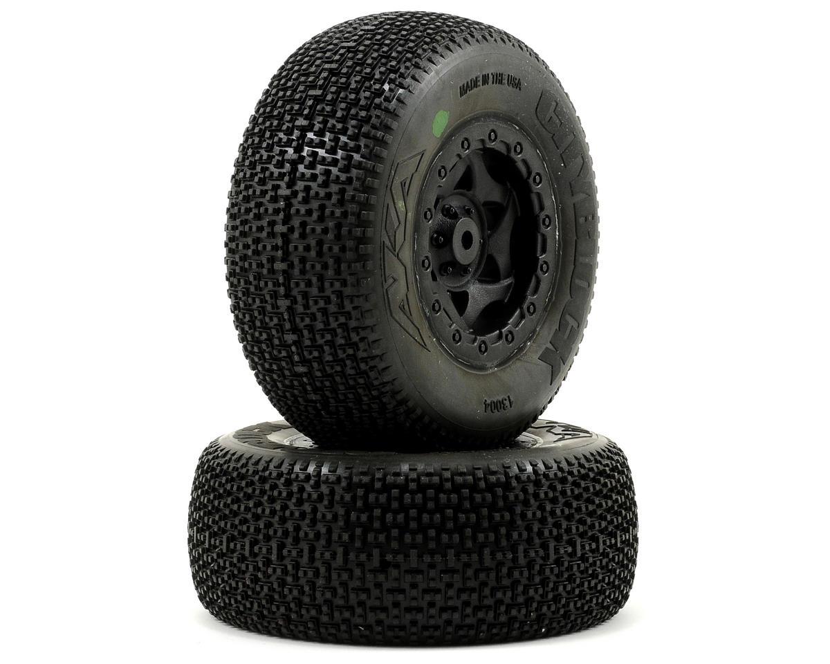 AKA Cityblock SC Pre-Mounted Tires (SC10 Rear) (2) (Black)