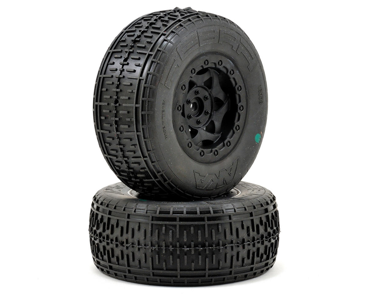 AKA Rebar SC Pre-Mounted Tires (SC6/Slash/Blitz) (2) (Black) (Kyosho Ultima SC)