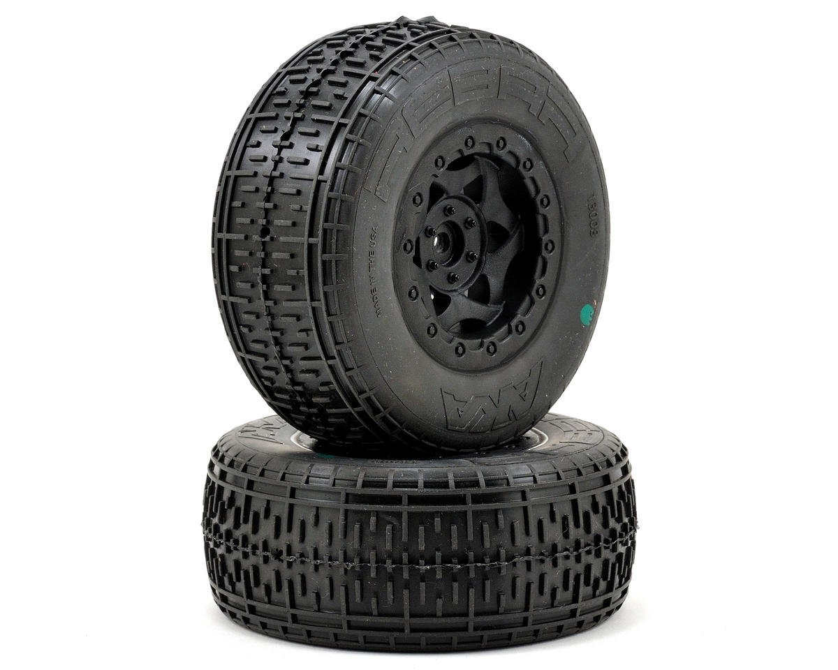 AKA Rebar SC Pre-Mounted Tires (SC6/Slash/HPI Racing Blitz) (2) (Black)
