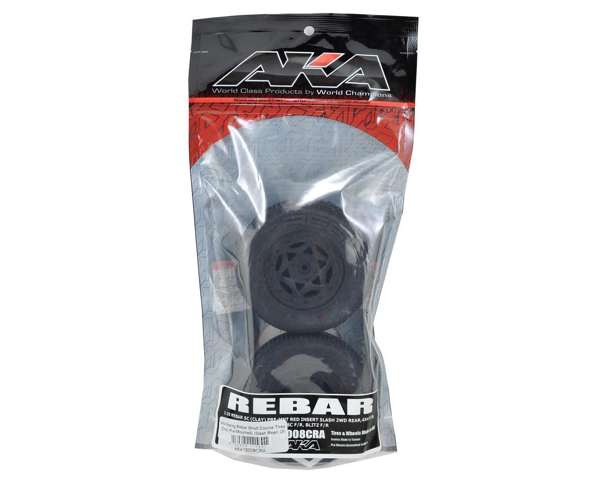 AKA Rebar SC Pre-Mounted Tires (SC6/Slash/Blitz) (2) (Black)