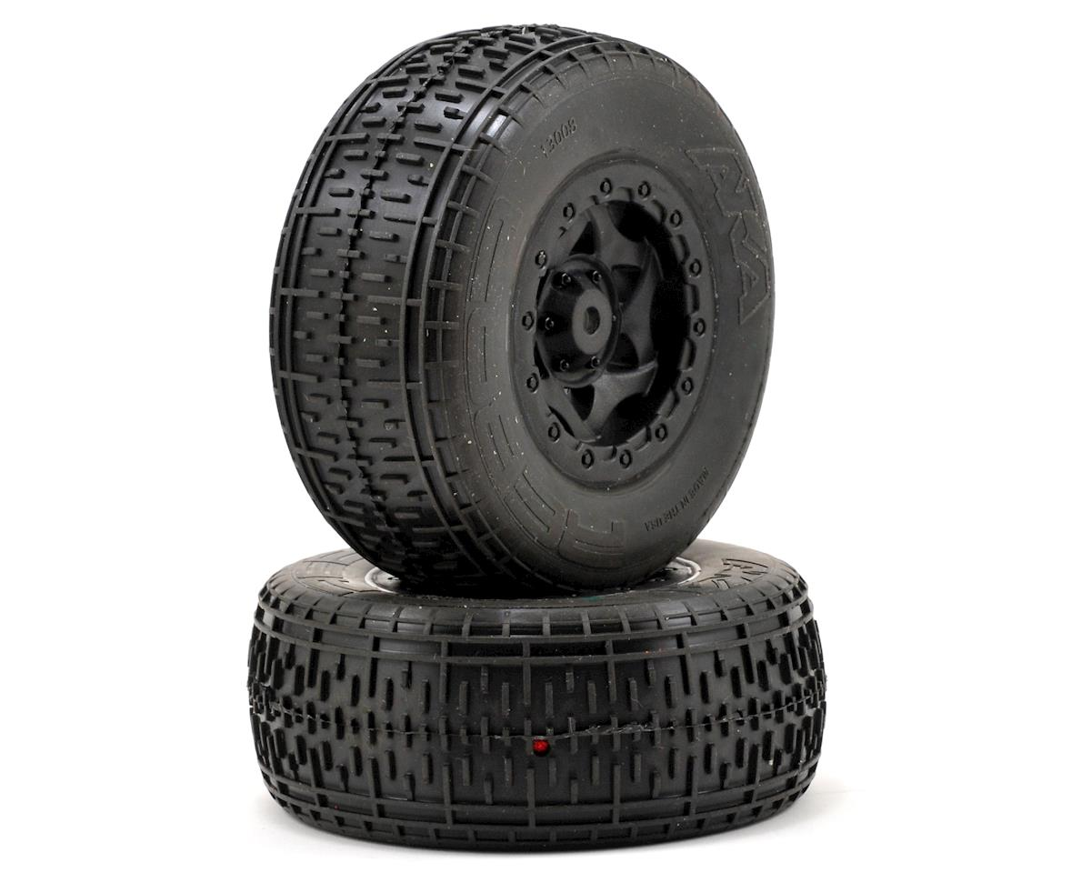 AKA Rebar SC Pre-Mounted Tires (SC5M) (2) (Black) (Team Associated SC10 4x4)