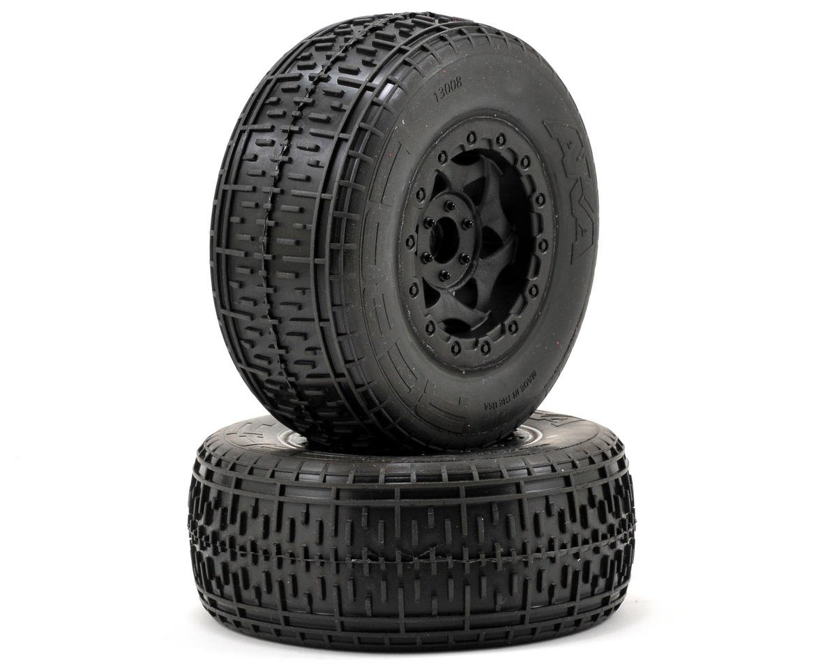 AKA Rebar SC Pre-Mounted Tires (Slash Front) (2) (Black) (Soft)