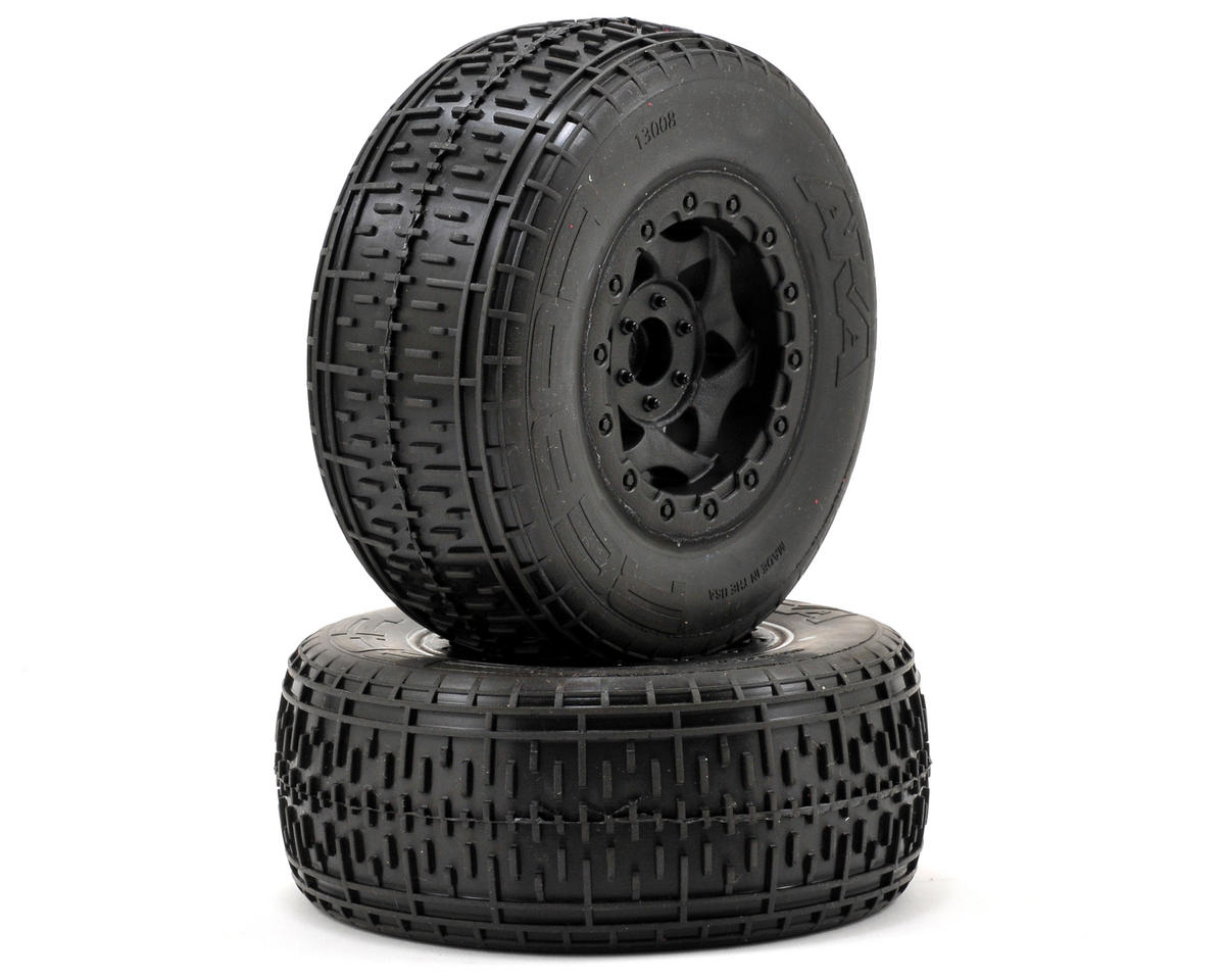 AKA Rebar SC Pre-Mounted Tires (Slash Front) (2) (Black)