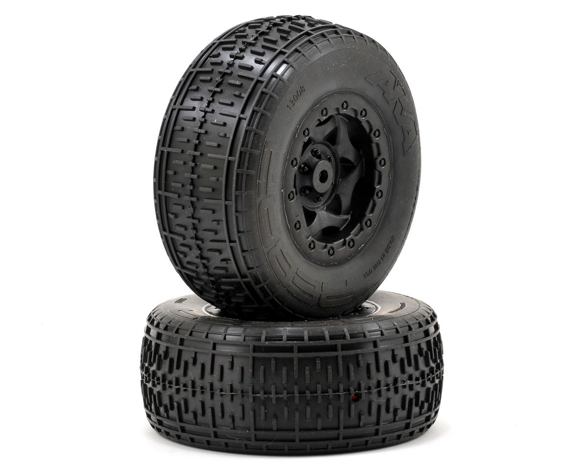 AKA Rebar SC Pre-Mounted Tires (SC10 Rear) (2) (Black)