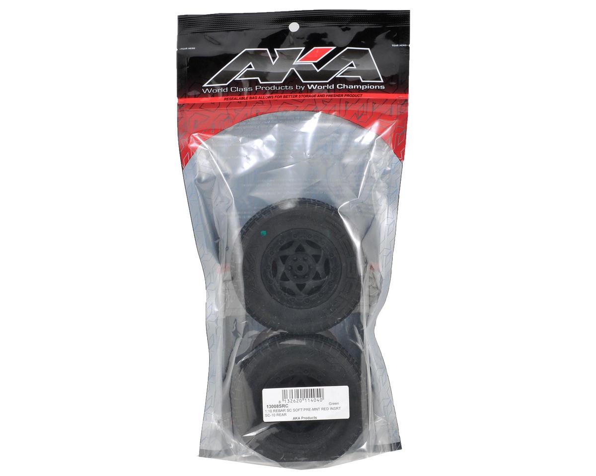 AKA Rebar SC Pre-Mounted Tires (SC10 Rear) (2) (Black)
