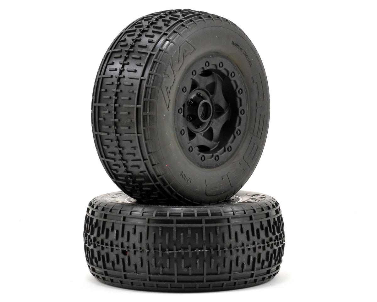 AKA Rebar SC Pre-Mounted Tires (Team Associated SC10 Front) (2) (Black)
