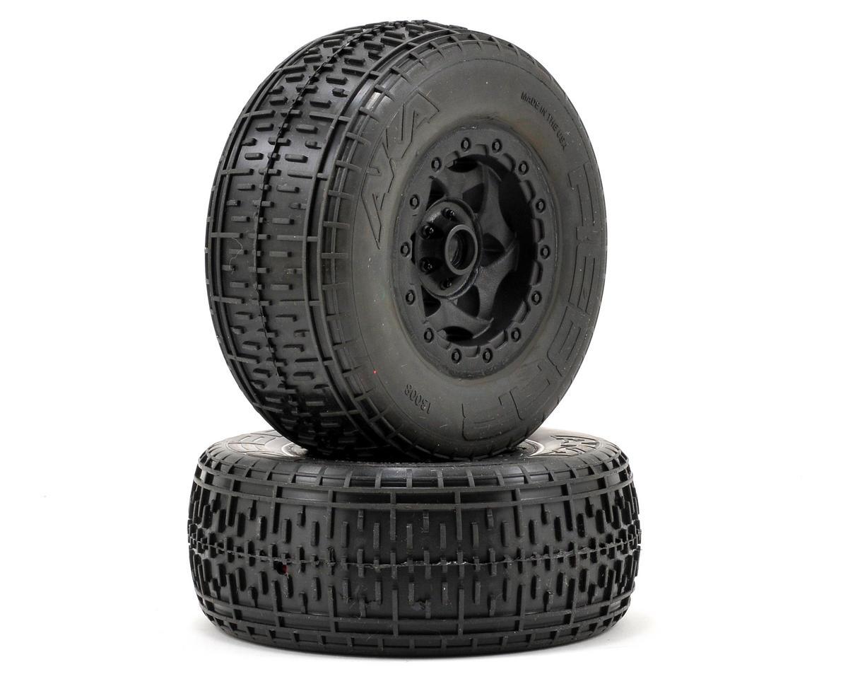 AKA Rebar SC Pre-Mounted Tires (SC10 Front) (2) (Black)